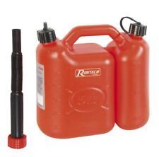 Jerrican à double compartiment pour huile et essence 5L et 2.5L