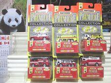 Matchbox 1997 Premiere World Class #7 SIX FIRE Trucks New in Mint Boxes + Packs