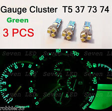 3x T5 5 SMD 3528 LED Gauge Cluster Shifter Light Bulb Green   74 w1.2w Honda