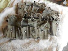 WW2 USGI  M-1 garand cartridge belt 10 pocket klikit pull early war