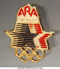 OLYMPIC PIN 1984 LOS ANGELES SPONSOR ARA SERVICES
