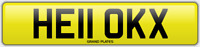 KX INITIALS number plate Hello CHERISHED REGISTRATION NO ADDED FEES HE11 OKX REG
