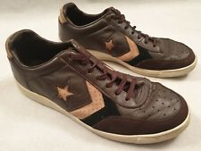 Converse All Star Brown  Leather Low Trainers UK Size 8 US Size 9 EUR 42.5