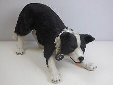 Real Life XL Sheepdog Garden Ornament SizeA LARGE **SLIGHT REPAIR SEE PICTURES**