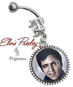 UNIQUE 50s Rock & Roll Elvis Presley dangle belly navel bar ring