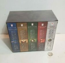 A Game of Thrones Song of Ice and Fire 5 books factory sealed 2013 HBO set