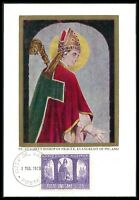 VATICAN MK 1966 POLEN POLAND ST. ADALBERT BISHOP PRAGUE MAXIMUM CARD MC CM bo54