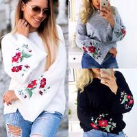 Women's Long Sleeve Knitwear Jumper Cardigan Tops Loose Casual Sweater Pullover