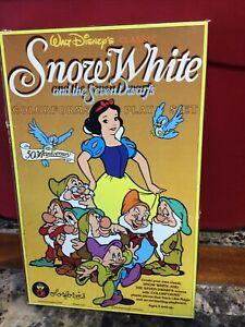 Vintage Colorforms Walt Disney Classic Snow White Seven Dwarfs Play Set
