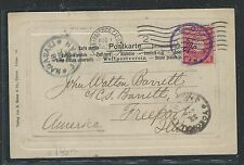 CHINA JAPAN OFFICES IN (PP2105B) 1902 PPC FROM CHEEFOO  TO USA