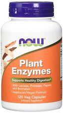 NOW FOODS, PLANT ENZYMES Pflanzliche Enzyme 120 Veg. Kapseln SUPER PREIS