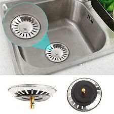 Kitchen Stainless Steel Basin Drain Dopant Sink Strainer Basket Waste Filter 1pc