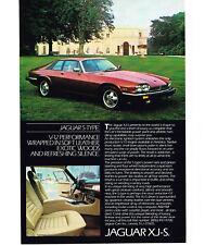 1984 JAGUAR XJ-S Red 2-door Coupe Vtg Print Ad