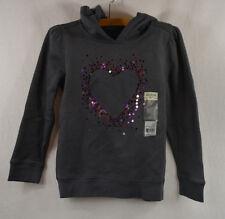 OshKosh B'gosh Girls 6T Graphic Bedazzled Heart Sweatshirt Hoodie $30 NWT