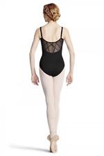 Bloch tap back yoke camisole leotard - black   L8837