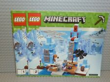 LEGO® Minecraft Bauanleitung 21131 The Ice Spikes ungelocht instruction B396