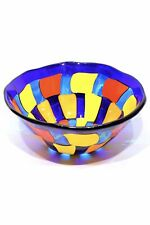 Angel B. - Bowl Centerpieces Spotted Glass Murano Signed