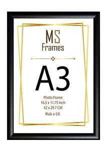 A3 Photo Frame Picture Frame Poster Frame BLACK  Classic D Shape Mouling
