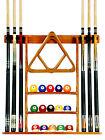Cue Rack Only - 6 Pool - Billiard Stick + Ball Set Wall Rack Holder Oak Finish