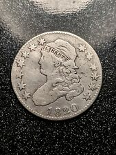 1820 Capped Bust Quarter, Scarce Early Silver Type Ch F-VF