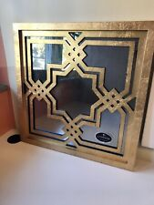 Uttermost Piazzale Square Decorative Mirror Antiqued Aged Gold Leaf Finish 13865
