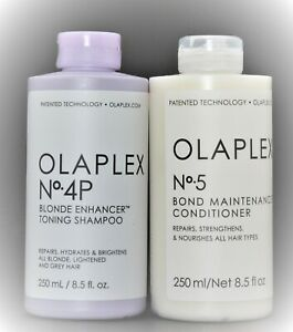 Olaplex No 4P Purple shampoo and NO.5 conditioner 8.5 oz, Authentic, SEALED