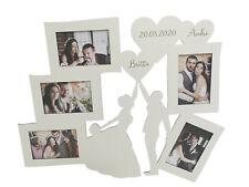 Personalisierter Bilderrahmen Brautpaar Gravur Geschenk Hochzeit - Holz weiß