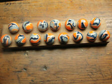 2008 Jabo  Dave McCullough made 15  Marley marbles in wood handmade display