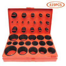 419pcs/set Universal Rubber O-Ring Assortment Set Gasket Automotive Seal SAE Kit