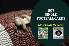 1977 Topps football complete set pick cards (most 99 cents) quantity discounts
