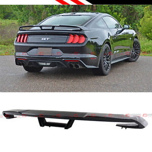 FOR 2015-2020 FORD MUSTANG S550 GT STYLE GLOSSY BLACK REAR TRUNK SPOILER WING