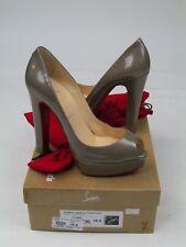 Christian Louboutin Bambou 140 Metal Patent Peep Toe Heels 38.5 UK 5.5 BNWB