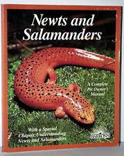 NEWTS and SALAMANDERS TRITONI E SALAMANDRE MANUALE USATO IN INGLESE KJ1 56332