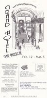 GRAND HOTEL THE MUSICAL ADVERTISING POSTCARD