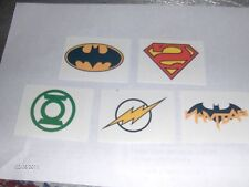 24 - Dc Comics Super Hero Temporary Tattoos & 24 Rings Birthday Party Favors