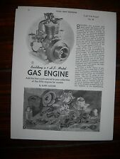 Elmer Wall 1HP 1 cyl gas engine plans build yourself 1950  hit & miss