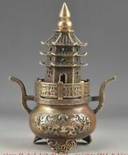 Chinese antiques  brass  Stupa  Totems  Incense burner  statue