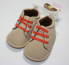 Carter's Child of Mine Baby Boy Boots Beige Orange Size Up to 3 Months NWT