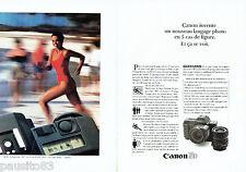 PUBLICITE ADVERTISING 016  1985  CANON   appareil photo T 80 (2p)