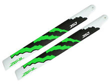 ZEAL ENERGY Carbon Fiber Main Blades 350mm Green Gaui X3, Trex 450L, Goblin 380