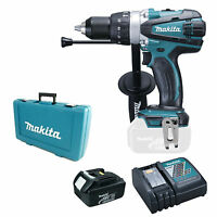 MAKITA 18V BHP458 BHP458Z COMBI DRILL, BL1830 BATTERY, DC18RC CHARGER & CASE