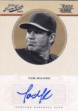 2012 Playoff Prime Cuts Tom Milone Oakland Athletics Autograph Auto Card