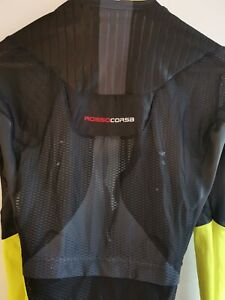 Castelli San Remo Aero Speedsuit Bib Shorts Size Large Black/Yellow DAMAGED