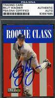 Billy Wagner 1996 Upper Deck Psa/dna Signed Original Authentic Autograph