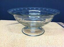 "Beautiful Decorative Glass Etched Pedistal Bowl 9.75"" Round"