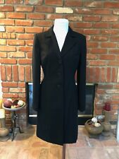 Vtg INC International Concepts sz 2 Black Versatile Dress / Long Riding Blazer