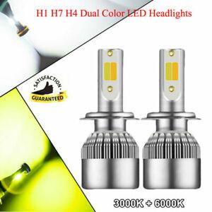 Dual Color 110W LED Headlight Kit 6000K White + 3000K Yellow H7 H4 H1 H8 9005/6