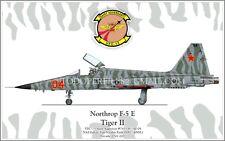Northrop F-5 E Tiger II VFC-13 Saint Aggressor -Poster Profile