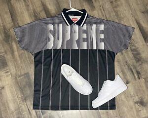 Supreme Shirt Authentic Soccer Jersey Polo Size XL box logo