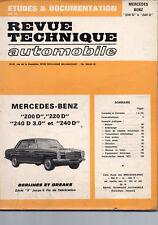Revue Tech. Automobile MERCEDES 200D, 220 D, 240 D, 240 D 3.0 berlines, breaks